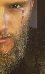 bjorn face tattoo viking